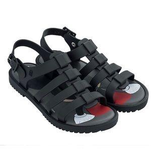 Mini Melissa Flox + Disney jelly sandals size 10
